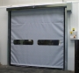 Rapid, auto-repairing roll-up door